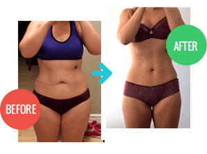 2 Week Diet review, Before and After pic 1