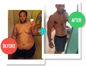 2 Week Diet review, Before and After pic 2