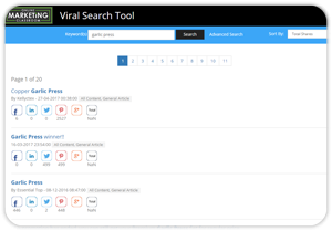 image of viral search tool