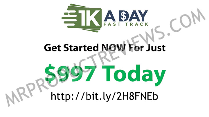 Buyers  1k A Day Fast Track Training Program