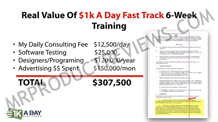 1k A Day Fast Track Training Program Website Coupons March