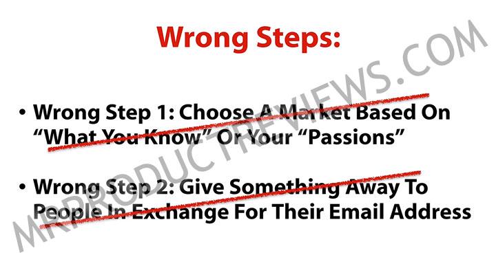 wrong steps